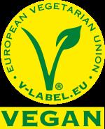 Vegan friendly - V label